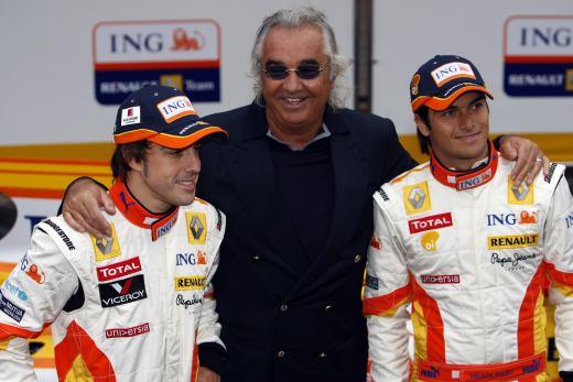 Alonso, Briatore y Piquet