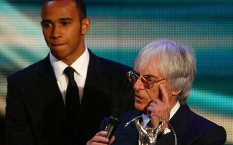 Bernie Ecclestone y Lewis Hamilton