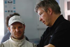 Ross Brawn y Rubens Barrichello