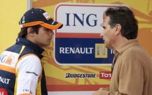 Piquet Jr junto a su padre Piquet