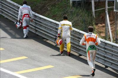 trulli, alonso and Sutil