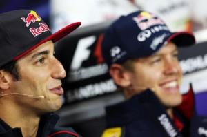 Ricciardo y Vettel