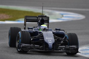 Massa test Williams