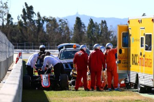 alonso test barcelona mclaren accidente
