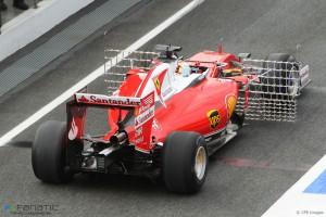 Vettel Ferrar Test Barcelona 2016